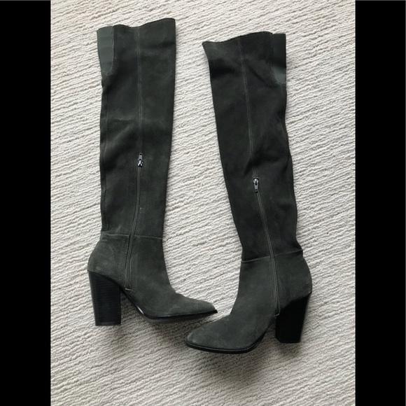 885d75e8013 Aldo Shoes - ALDO OLIVE GREEN OVER THE KNEE BOOTS
